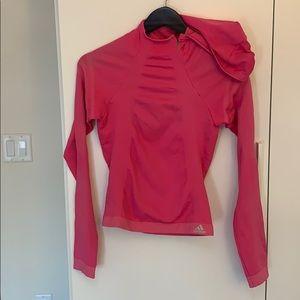 Adidas pink long sleeved top